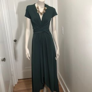 MICHAEL Michael Kors Emerald Green Maxi Wrap Dress